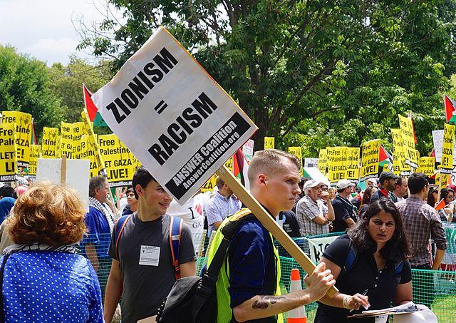 Manifestación anti Israel