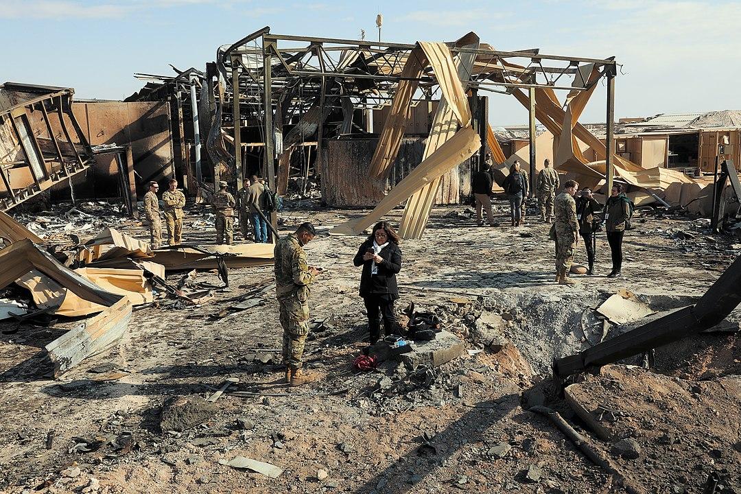 Base aérea de EEUU Al Asad en Irak, atacada por el IRGC el 13 de enero de 2020